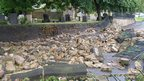 Damage to St John's Cemetery, Elswick.