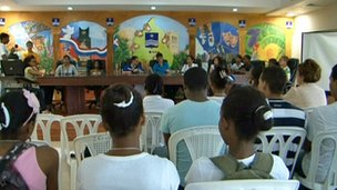 A Youth City Council meeting in the Dominican Republic