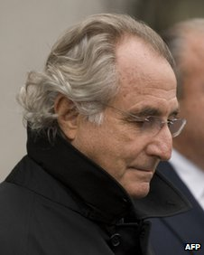 Bernard Madoff leaves court file pic