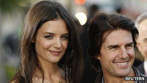 Katie Holmes and Tom Cruise file pic March 2011