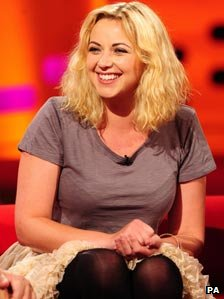 Charlotte Church during filming of The Graham Norton Show