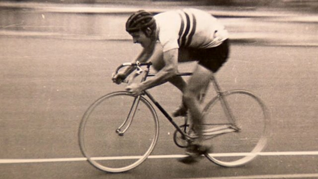 Archive picture of cyclist