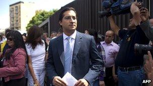 Globovision vice-president Carlos Zuloaga