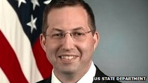 US ambassador to Burma Derek Mitchell shown in an official State Department image
