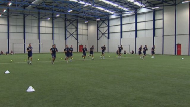 Ross County players training