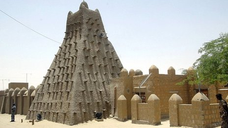 Timbuktu, sometimes called the city of 333 saints, is famous for its distinctive architecture