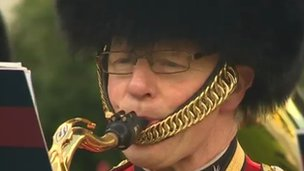 Bandsman at Falklands re-dedication