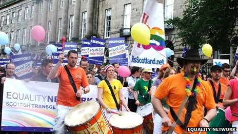 March in Edinburgh in support of same-sex marriage