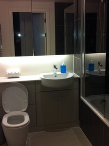 Olympic Village bathroom