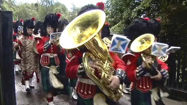 Parade in Edinburgh