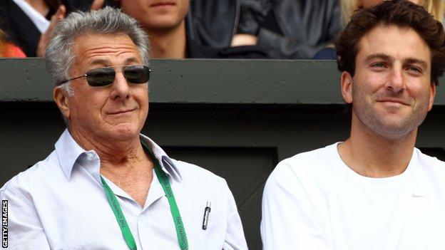 Dustin Hoffman enjoys day six of Wimbledon