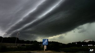 Storm clouds over Lisle, Illinois, 29 June