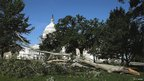 Trees blown down near the Capitol building in Washington DC on 30 June 2012 following violent overnight storms.