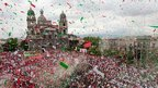 Mexican electoral rally in Toluca's main square