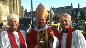 Canon Pat Lyes-Wilson, Bishop of Gloucester and The Revd Ruth Fitter