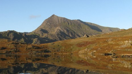 Crib Goch behind Llyn Cwmfynnon at dawn (Peter Ellwood, Rhos on Sea)