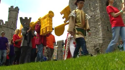 Parade at Caernarfon Castle