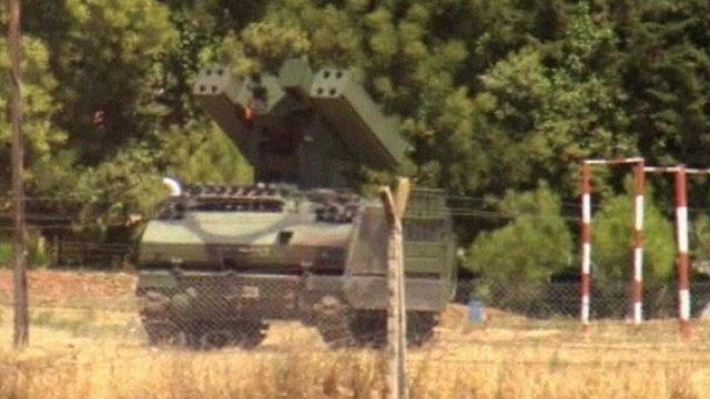 Tank on Turkish border