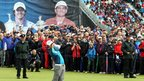 Many fans followed the progress of Rory McIlroy who carded a 67 to finish in joint 10th position