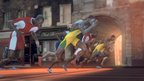Animated sprinters in the BBC's Olympics title sequence