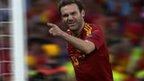Juan Mata scores Spain's 4th goal versus Italy