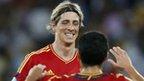 Torres celebrates scoring against Italy