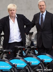 Boris Johnson and Marcus Agius