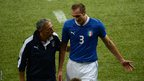 Giorgio Chiellini comes off injured