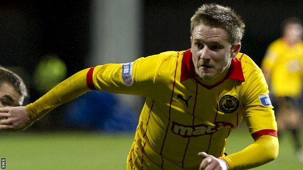 Paul Cairney in action for Partick Thistle