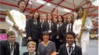 School Reporters with David and Cynthia