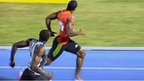 Usain Bolt and Johan Blake