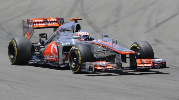 McLaren Mercedes' British driver Jenson Button