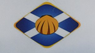 Saltire and scallop shell