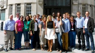 WBR team outside Broadcasting House