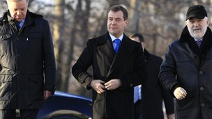 Dmitry Medvedev arrives at Skolkovo Innovation Centre