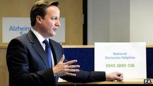 David Cameron visits Alzheimer's Society