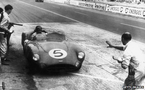 Roy Salvadori at Le Mans in 1959