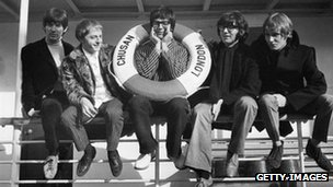 Pop group Manfred Mann - (from left) Mike D'Abo, Mike Hugg, Manfred Mann, Tom McGuinness and Mike Vickers