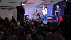 Sark Folk Festival - Show of Hands playing