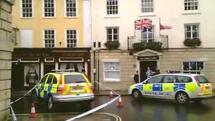 Wiltshire Police said officers were called to St Johns Street, Devizes