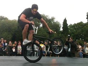 Three-times world BMX champion Keelan Philips