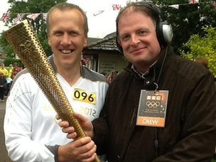 Dean Barnett with BBC Radio Leicester's Ben Jackson
