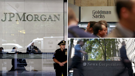 JP Morgan, Goldman Sachs, News Corp
