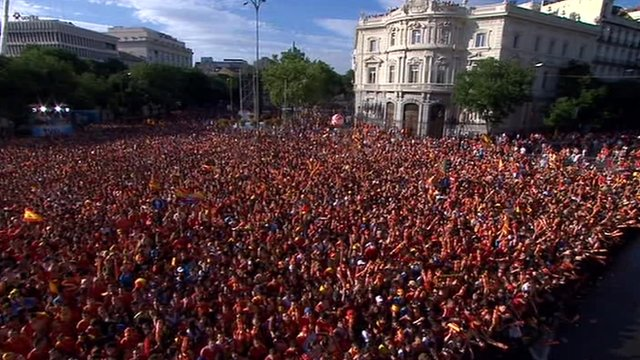 Crowds in Madrid