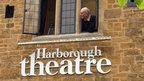 Man watching from Harborough Theatre