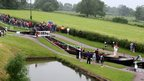Olympic torch relay at Foxton Locks in Leicestershire