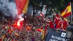 Spain's soccer team players show the Euro cup as they wave to supporters at Cibeles Square in Madrid, Spain, 2 July 2012