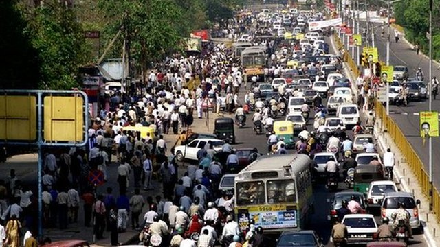 Cities like Delhi in India present many challenges for urban planners