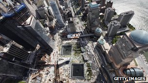 The redeveloped site of World Trade Center