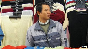 Vietnamese shop assistant in Warsaw - file pic